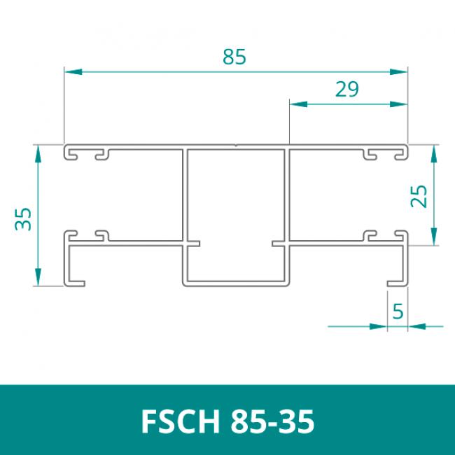 WAREMA Alu Distanzführungsschiene für Rollladen (FSCH 85-35)