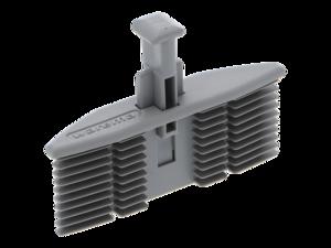WAREMA Endkappe grau, mit Führungsnippel 56,5x13 mm, für Unterschiene, Typ 80 S