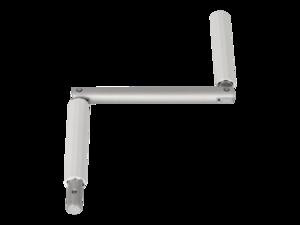 WAREMA Kurbel D16 mm, weiß, Vierkant, Zapfen 12,9 mm, Ausladung 140 mm