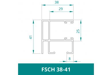 WAREMA Alu Führungsschiene für Rollladen (FSCH 38-41)