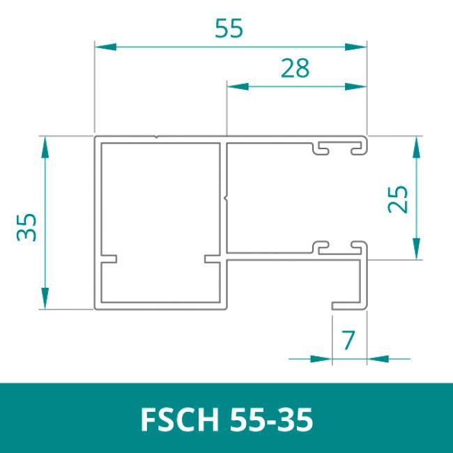 WAREMA Alu Distanzführungsschiene für Rollladen (FSCH 55-35)
