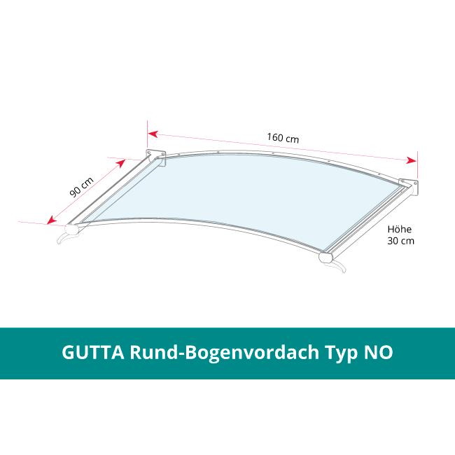 GUTTA Rundbogenvordach NO -klar-