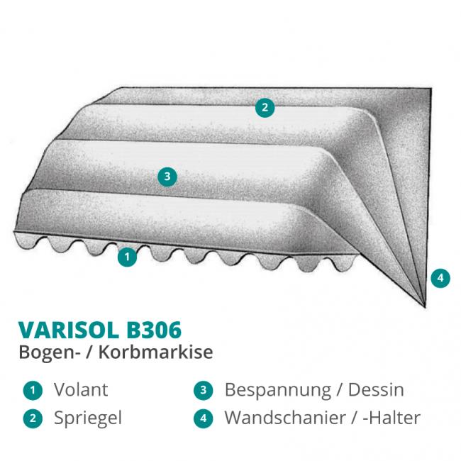 VARISOL B306 Korbmarkise / Bogenmarkise