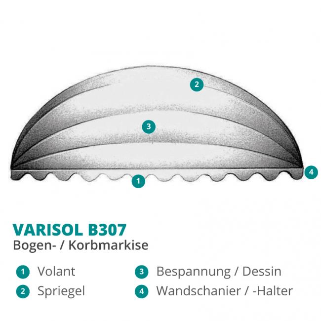VARISOL B307 Korbmarkise / Bogenmarkise