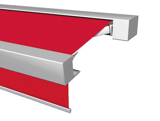 Volant-Rollo Kassetten-Markise Terrea K70 mit WMS-Komfortsteuerung