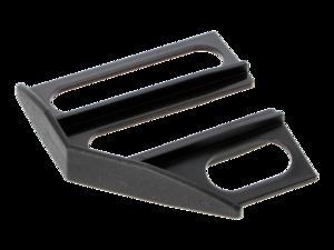 WAREMA Endkappe schwarz, 45°, rechts, für Unterschiene 80 mm