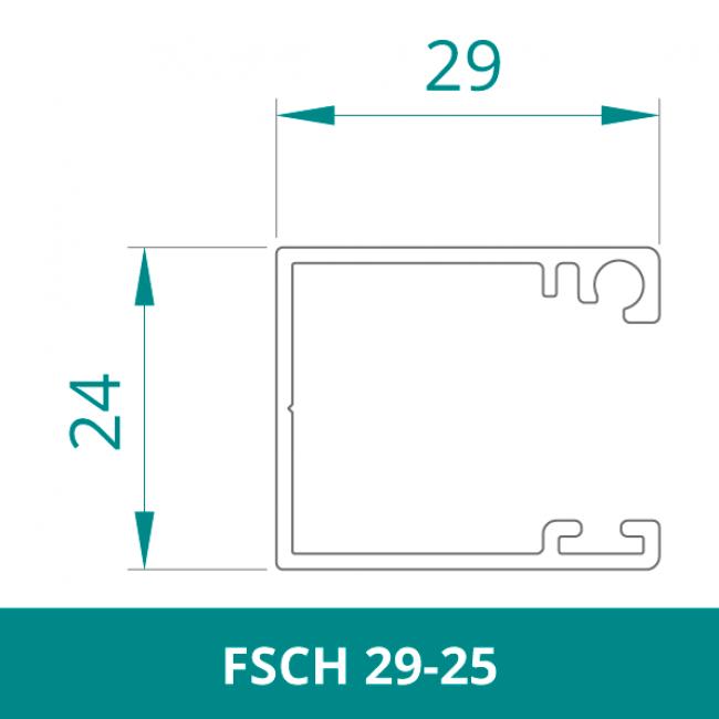 WAREMA Alu Führungsschiene für Rollladen (FSCH 29-25)